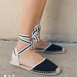 Soludos flat espadrilles - only worn once!